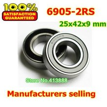 High quality deep groove ball bearing 6905 2RS 6905-2RS 61905-2RS 6905RS 6905RZ 25*42*9 mm 10pcs/lot
