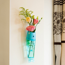 Hot New Cute ABS Fish Shape Flower Plant Wall Type Vase Hydroponic Home Office Wedding Decor(China (Mainland))