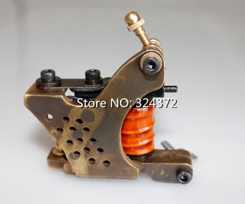 2pcs Free ship by china post machine gun stock brass wire 10 wraps shader manual handmade Cast brass frame Tattoo Machine Gun<br><br>Aliexpress