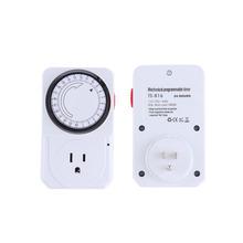 US Plug 24 Hour Programmable Mechanical Electrical Plug Program Timer Power Switch Energy Saver Top sale(China (Mainland))