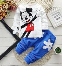 2017 Boys Clothes Suits Cartoon Donald Duck Baby Kids Boys Outerwear Hoodie Jacket Baby Sport Boys Clothing Sets Suits(China (Mainland))