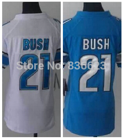 Free shipping #21 Reggie Bush Women Football Jersey Embroidery and Sewing ,(China (Mainland))