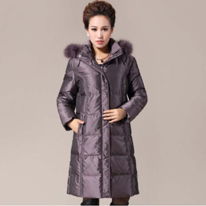 Plus size Winter Jacket Women 2015 Women Winter Coat Parka Women Fur Hooded Duck Down Coats Women Long Parkas Fur Coat BL1256