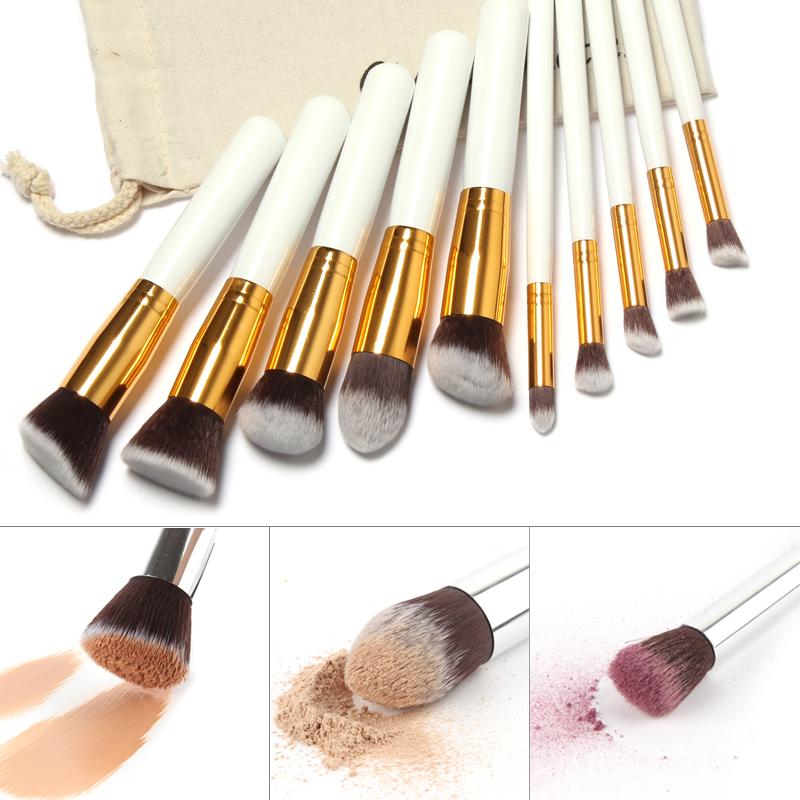 Makeup Brushes 10 Pcs Superior Professional Soft Cosmetics Make Up Brush Set Woman's Kabuki Brushes