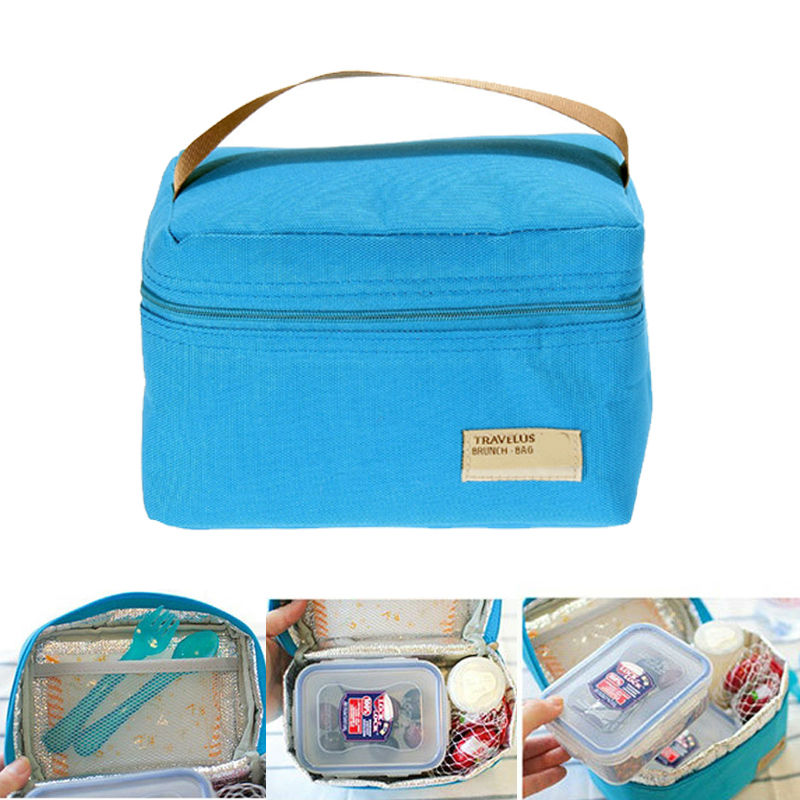 portable insulated thermal cooler bento lunch box tote picnic storage bag bol. Black Bedroom Furniture Sets. Home Design Ideas