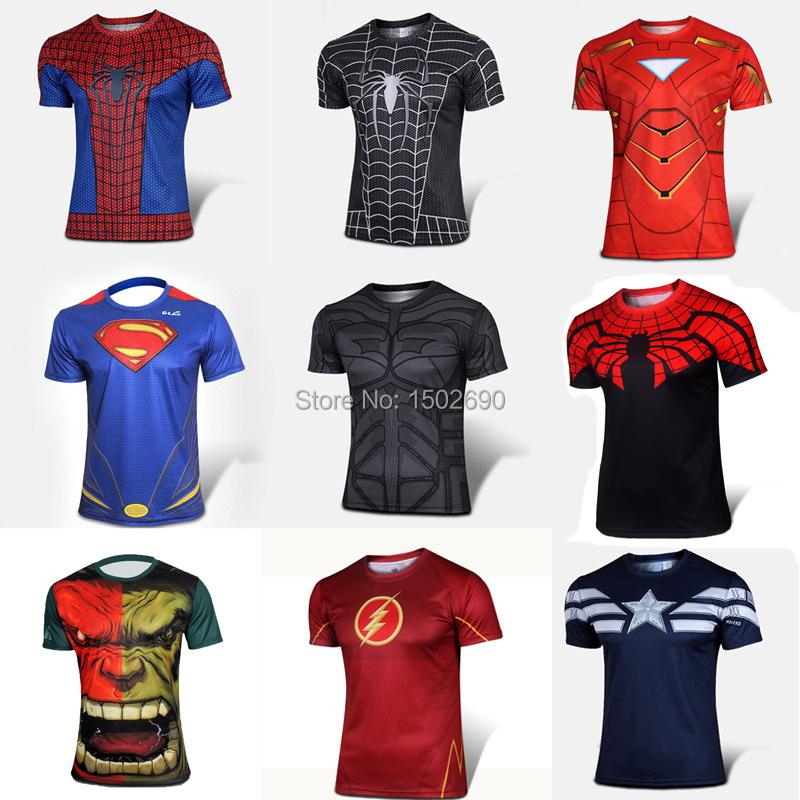 Batman Spiderman Venom Ironman Superman Captain America Winter soldier Marvel T shirt Avengers Costume DC Comics Superhero mens - AutoMotor 2014 store