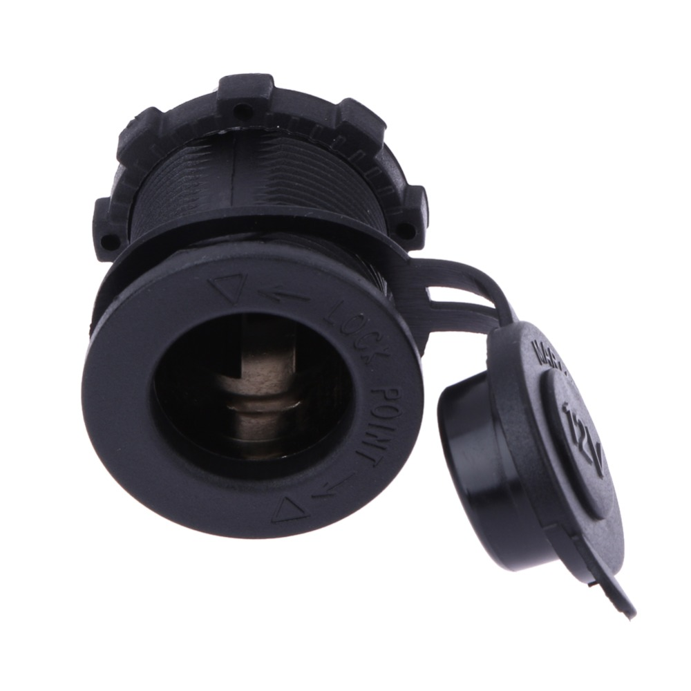 12V 120W Motorcycle Car Boat Tractor Accessory Waterproof Cigarette Lighter Power Socket Plug Outlet Free Shipping