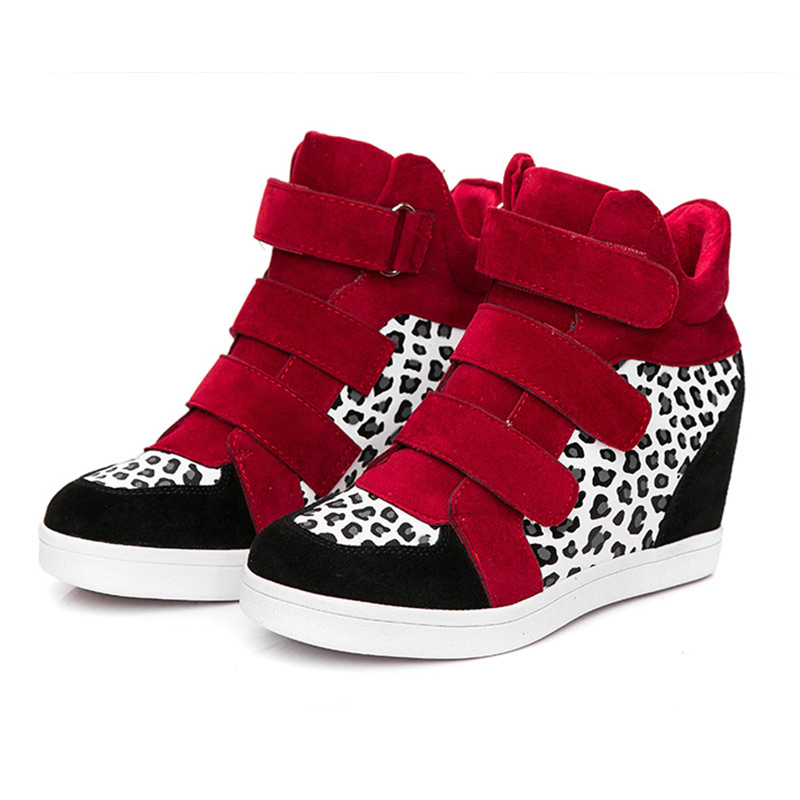 2016 casual shoes heels wedge high top