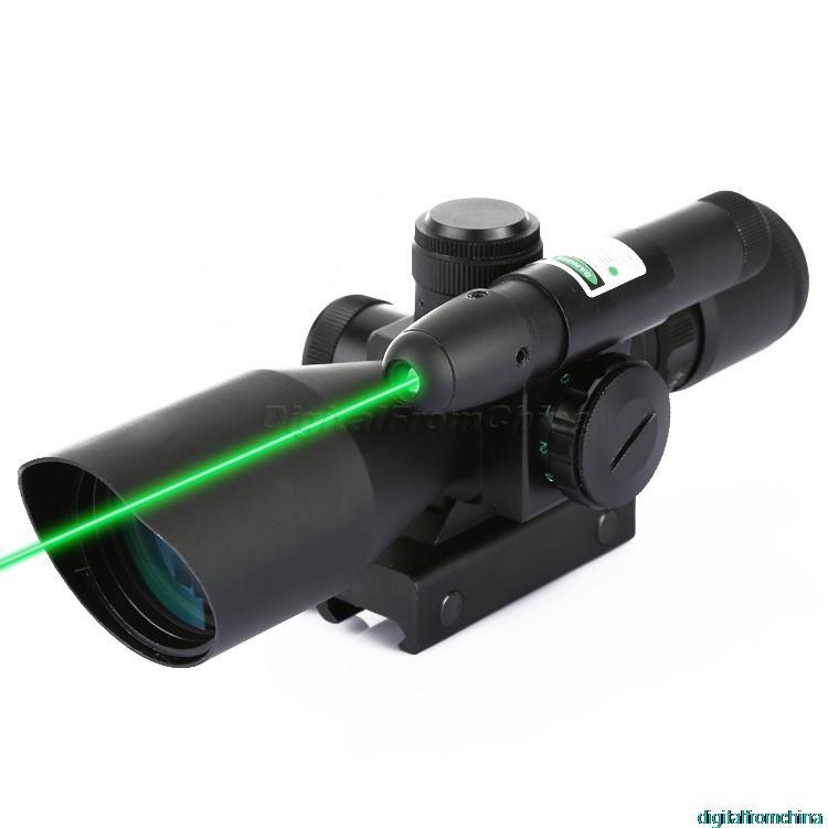 Здесь можно купить  2.5-10x40 Red Green Mil Dot Sight Scope Illuminated Green Laser Sight 20mm Rail Mount For Hunting  Спорт и развлечения