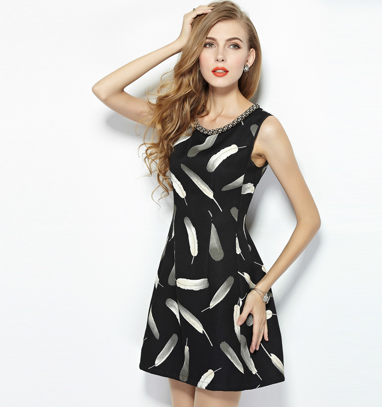 Boutique Fall Dresses For Women retro print dress women