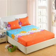 1pc 100%Polyester Fitted Sheet Mattress Cover Printing Bedding Four Corners With Elastic Band Bed Sheet 160cm*200cm(China)