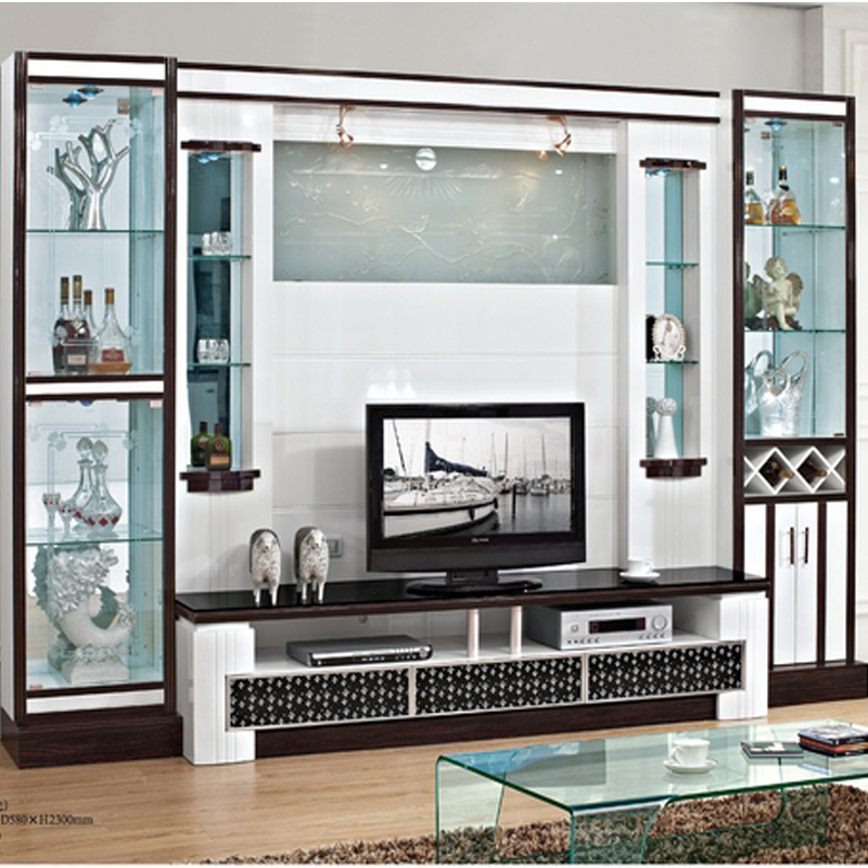 Fashion Paint Tv Cabinet Combination Tv Wall Decoration
