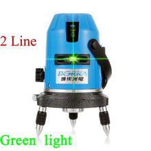 Envío gratis Borka láser verde exterior 2 línea 1V1H red cross line autonivelante 360 línea de rotary láser cinta métrica piso nivel láser