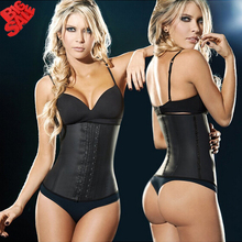 Amigas 2016 New Latex corset body shaper Waist Trainer training corsets 100% Latex Waist Cincher Women Sexy Slimming Shapewear