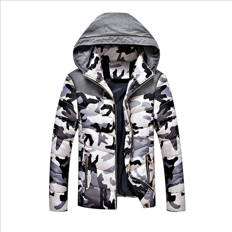 2016 New brand outwear coat camouflage jacket winter men hat detachable mens thick coats 3XL CD0236 - CalmLake store