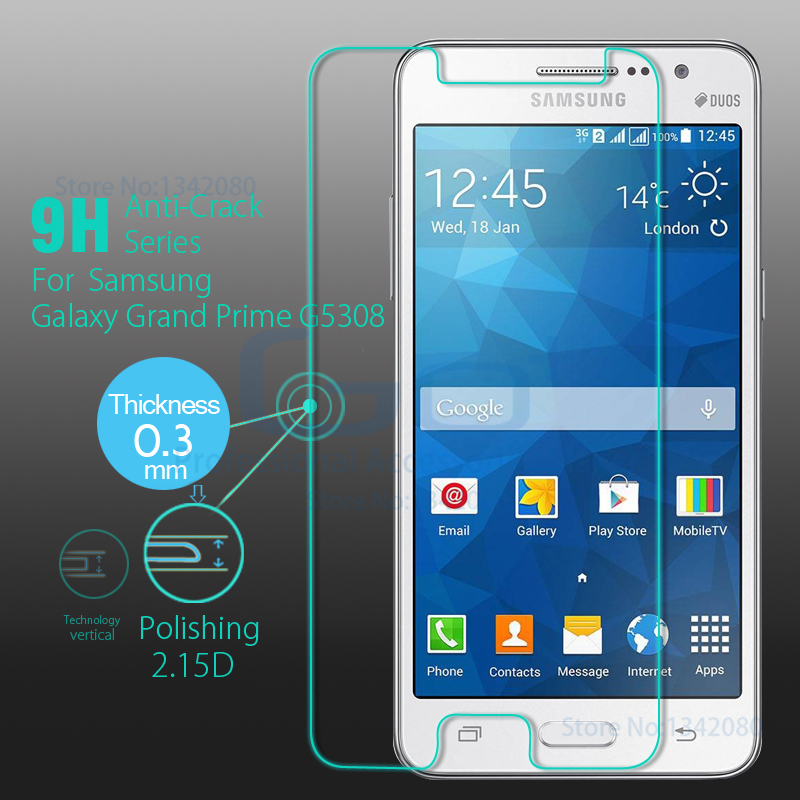 Original Tempered Glass for Samsung Galaxy Gran Prime Screen Protector Glass Grand Duos SM-G530F SM-G530H Tempered Glass Film(China (Mainland))
