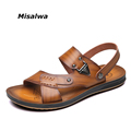 Misalwa Men Sandals Fashion Summer Shoes Men Slippers Men s Casual Leather Shoes Free Shipping