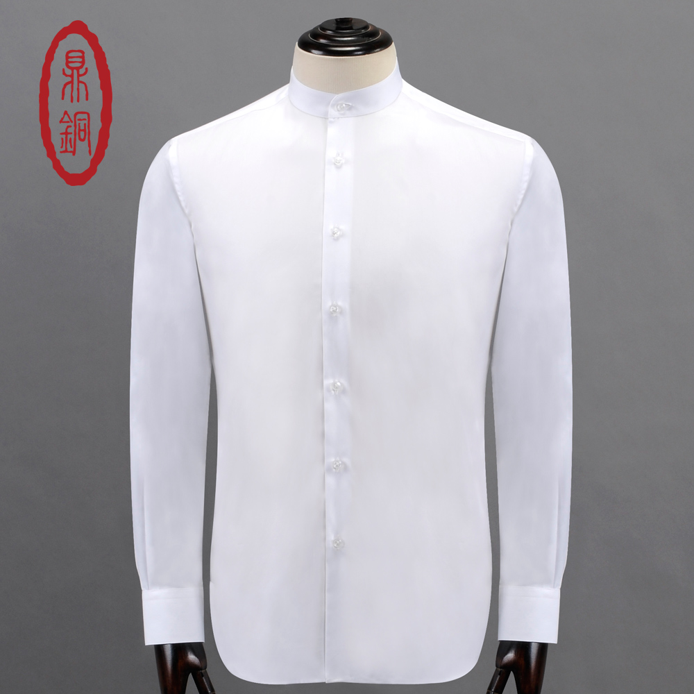 Buy dingtong mens cotton silk dress shirt Buy white dress shirt