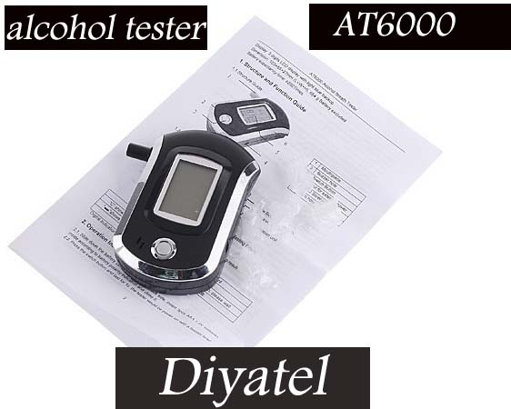 Analyzer with 5 mouthpieces 2016New Professional Alcohol Tester Police Portable Breath Alcohol Analyzer(China (Mainland))