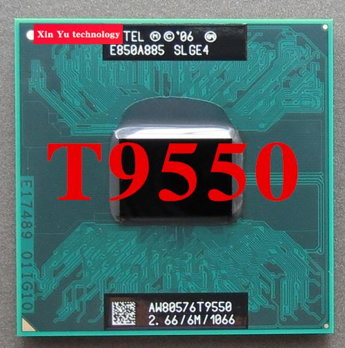 Lifetime warranty Core 2 Duo T9550 2.66GHz 6M 1066 Dual Notebook processors Laptop CPU Socket PGA 478 pin Computer Original(China (Mainland))