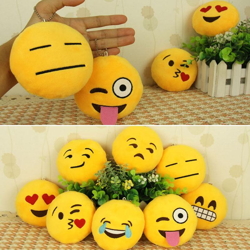 Wholesale New Cute Emoticon Smiley Yellow Cushion Stuffed Plush Soft Toy Mini Emoji Emoticon Toy(China (Mainland))
