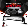 Auxmart 22inch 120w 12v 24v LED Light Bar Spot Flood Combo Beam Work Light for Offroad