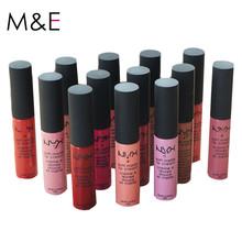 Long-lasting 2016 Fashion Liquid Lipstick Maquiagem Makeup Maquillaje Batom Matte Lipstick Pintalabios Labiales Matte Lip Gloss(China (Mainland))
