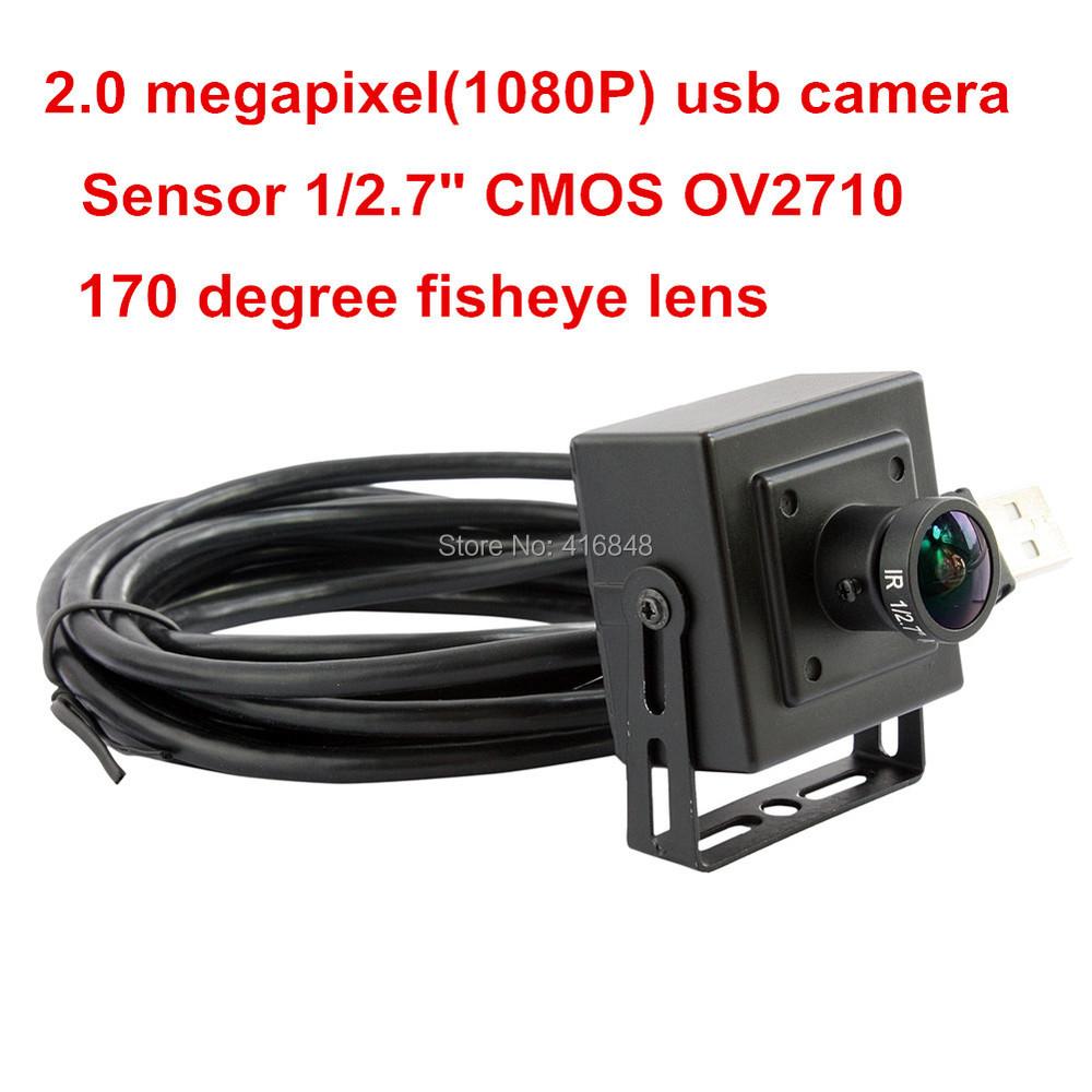2Megapixel 1080P HD Ominivision 1/2.7 CMOS OV2710 MJPEG 30/60/120fps monochrome 170 degree fisheye lens mini box usb camera <br><br>Aliexpress
