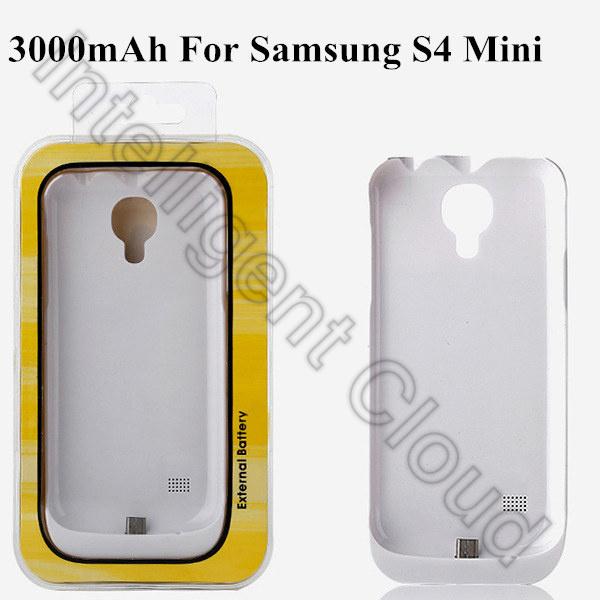 3000mAh Backup Battery Case External Charger Portable Power Bank For Samsung Galaxy S4 Mini I9190 I9192 I9195 Free Shipping(China (Mainland))