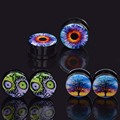 3pair Oil drip fashion Body Piercing Jewelry Ear Plugs Expander for Punk Man Ear Stretcher Piercing