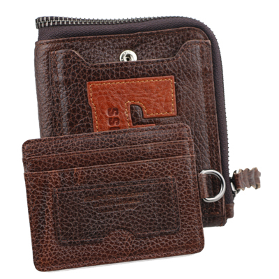 Hot selling hautton brand 2015 money clip change purse genuine leather men wallets for man free shipping(China (Mainland))
