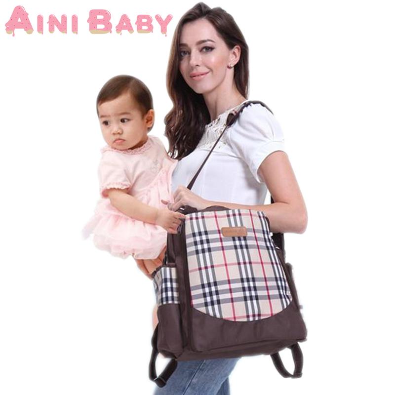 Plaid Mummy Bag For Women Messenger Bag Mummy Pack...