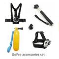 Gopro Accessories Set Monopod Mount Tripod Float Bobber Chest Belt Set For Go pro Hero 4
