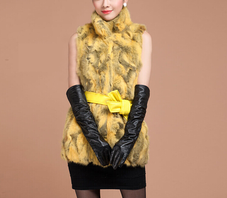 New Real Natural Rabbit Fur Vest For Women Warm Fashion Genuine Fur Vest FP440 Free Shipping big size customise wholesale 2015(China (Mainland))