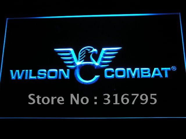 d242-b Wilson Combat Firearms Gun Logo LED Neon Sign with On/Off Switch 7 Colors to choose(China (Mainland))