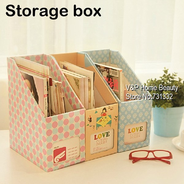 Paper storage box for zakka stationery magazine Home Desk