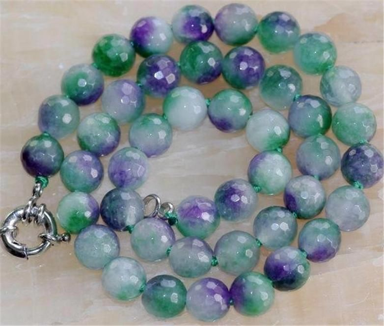 2015 10mm Faceted Colorful Kunzite Round Jewelery Necklace Rope Chain Beads Jasper Jewelry Making Natural Stone (Minimum Order1)(China (Mainland))