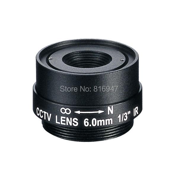 cctv 6mm lens cs mount, 1/3 inch fixed iris F1.8 lens, 3 mega pixel ip camera, EVETAR - Wellcam Lens store