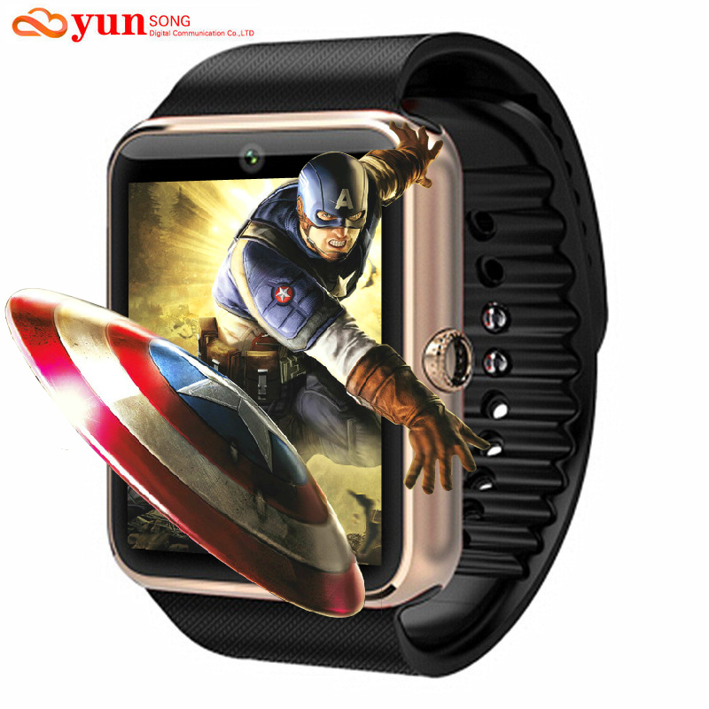 Smartwatch Bluetooth GT08 Smart watch With Camera Support SIM TF Card for Apple iPhone IOS Android Phone Sport Watch PK DZ09 U8(China (Mainland))