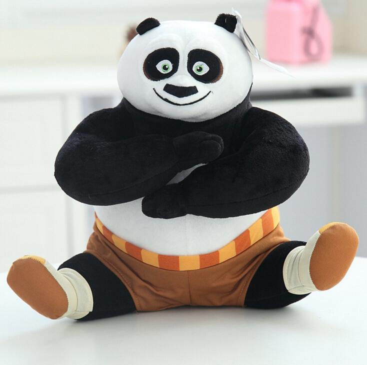 2016 New 8 inch Kung Fu Panda 3 Plush Stuffed Toy Cartoon Animal Toys(China (Mainland))