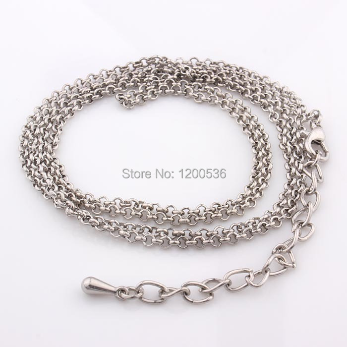 Wholesale 80cm Iron Imitation Platinum Chain, Jewelry Findings Fashion Accessories(China (Mainland))