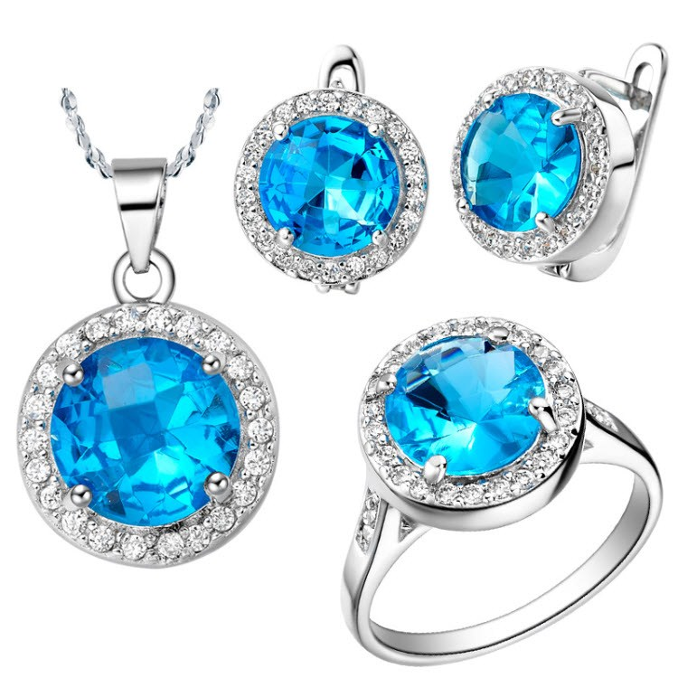 Titanic Necklace And Ring Set Necklace Titanic Blue