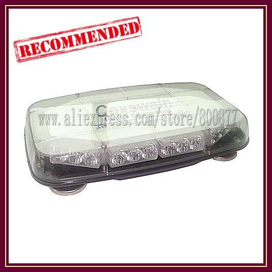 LED Amber warning Mini lightbar, 30* GenIII 1W LED, Cigarette plug, heavy Magnetic base, warterproof LED light