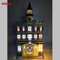 MTELE Brand LED Light Up kit For Creators The town hall Model Building Kits Blocks Lepin