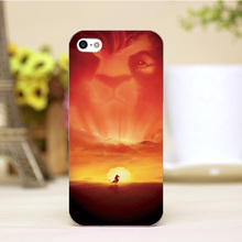 pz0004-40-1 For The Lion King Design Customized cellphone transparent cover cases for iphone 4 5 5c 5s 6 6plus Hard Shell