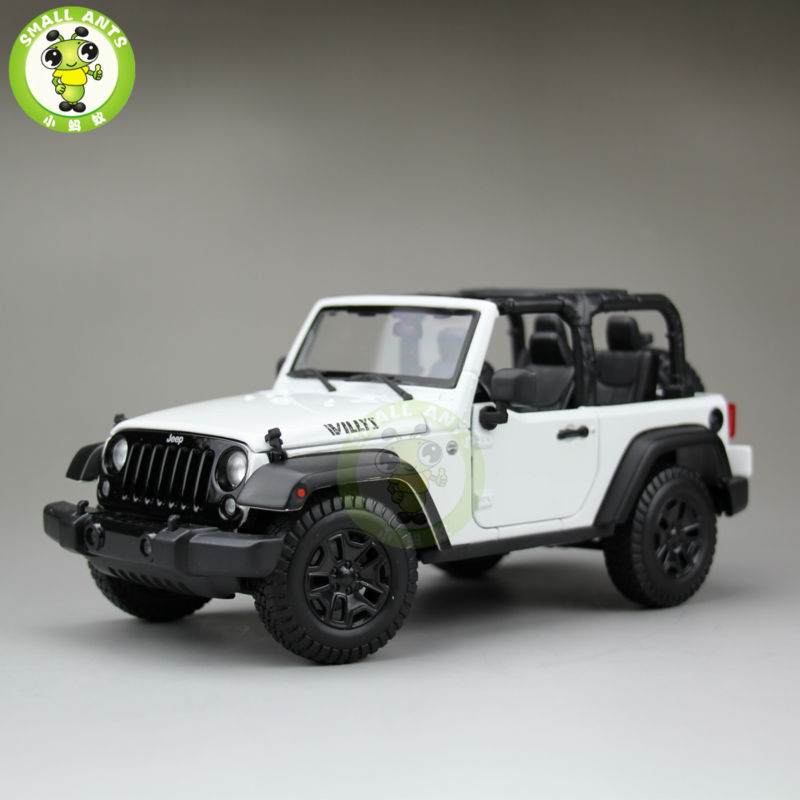 1:18 Scale 2014 Jeep Wrangler New Willys Diecast Car Suv Model Maisto 31676 White&Black(China (Mainland))