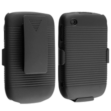 Black Rubberized Hard Case Holster Stand For Blackberry Curve 8530 8520 9300(China (Mainland))