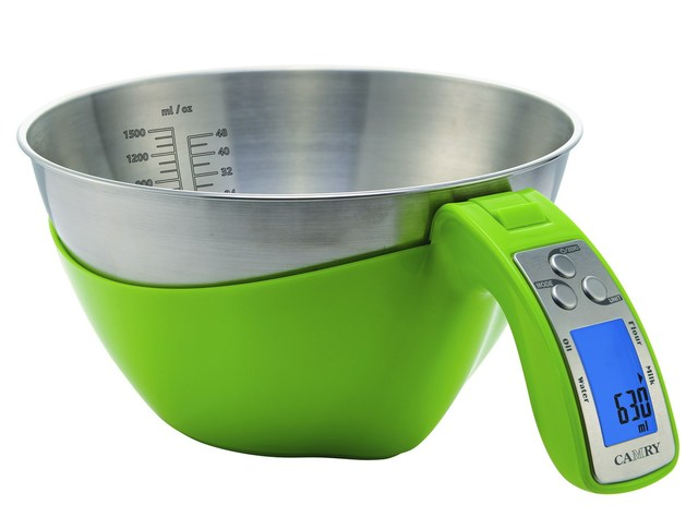 Baking Pastry Tools Kitchen Scale Black Measuring 1500ml Stainless Steel Bowl Cooking Tools