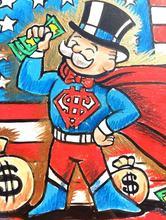 Монополистическое Искусство Холст Картина уличный художник Скрудж макдак доллар знак статуя плакат Настенная картина для гостиной без рам...(China)