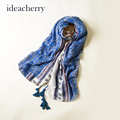 ideacherry Hot Selling Ethnic Style Charming Scarves Chinese Traditional Design Foral Vintage Winter Autumn Scarf Accessories